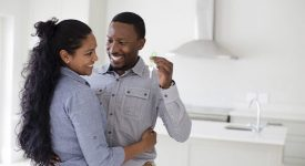 Couple buying a newer build starter home, buyers.